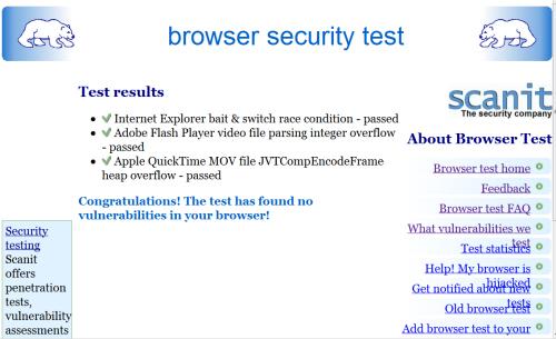 browser và Kiểm Tra Bảo Mật