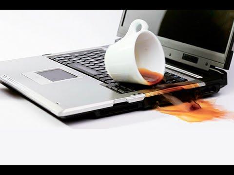 Tuổi Thọ Máy Tính và coffee drop in laptop